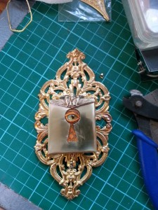The box, before I've soldered the moths onto it, still in it's raw state